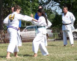 Kids Karate Outside Block